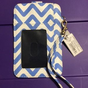 Blue and white Simple wristlet